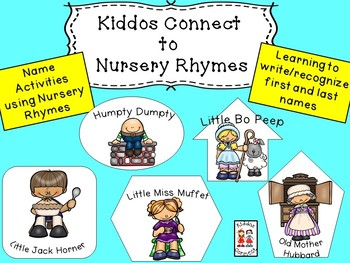 Nursery Rhymes and First/Last Name Unit - Kiddos Connect to Nursery Rhymes