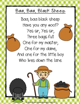 Nursery Rhymes: Baa, Baa Black Sheep