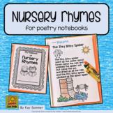 Nursery Rhymes for poetry notebooks