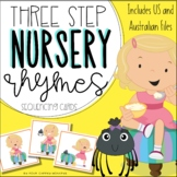 Nursery Rhymes 3 three step sequencing picture cards / stories