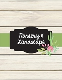 Nursery and Landscaping Teacher Binder
