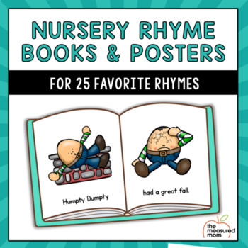 Nursery rhyme books and posters