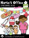 Nurse's Office Clip Art ~ Commercial Use OK ~ Bandaid ~ Medicine