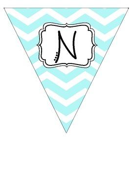 """Nurse's Office"" Light Turquoise Pennant Banner"
