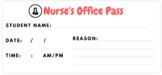 Nurse's Office Pass