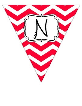 """Nurse's Office"" Red and White Pennant Banner"