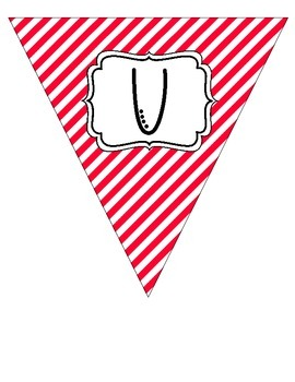 """""""Nurse's Office"""" Red and White Pennant Banner"""