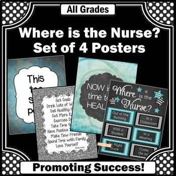 Nurses Office Chalkboard Classroom Band aid Health DOOR SIGN Teacher End of Year Christmas Present Gift TDS147