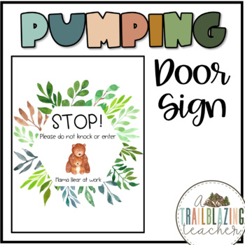 Nursing Mother's Pumping Door Sign