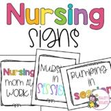 Nursing/Pumping Door Signs