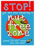 Nut Free / Peanut Free Zone Sign