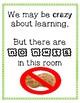 Nut Free Sign