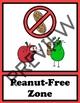 Nut Free Sign - Apple Theme