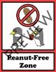Nut Free Sign - Penguin Theme