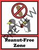 Nut Free Signs - Penguin Theme