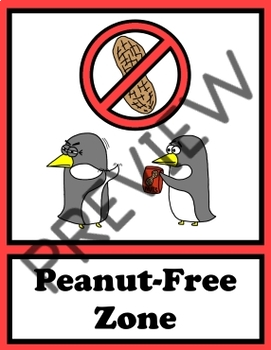 Peanut Free Sign