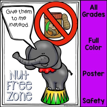Nut Free Zone Safety Poster