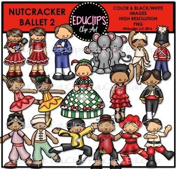 Nutcracker Ballet 2 Clip Art Bundle {Educlips Clipart}