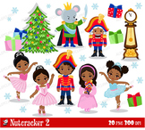 Nutcracker Ballet 2, Multicultural  clipart set - Personal and Commercial Use.