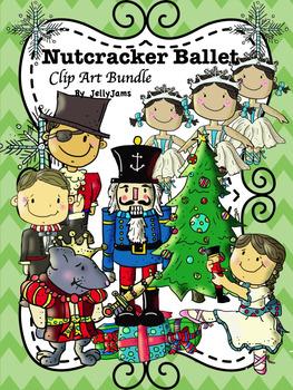 Nutcracker Christmas Tree Clipart.Nutcracker Ballet Winter Christmas Clip Art Bundle By Jelly Jams No Prep