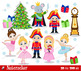 Nutcracker Ballet digital clipart set - -Personal and Commercial Use.