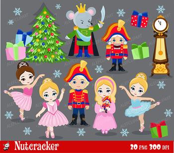 Nutcracker Ballet digital clipart set - -Personal and Comm