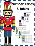 Nutcracker Christmas Math Number Cards and Tables
