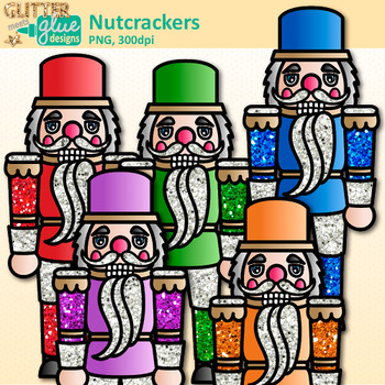 Christmas Nutcracker Clip Art {Rainbow Wooden Soldiers for Digital Scrapbooking}