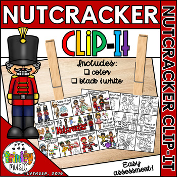 Nutcracker Clip It Cards