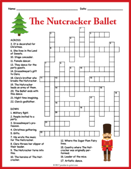 Nutcracker Crossword  - Nutcracker Ballet Puzzle