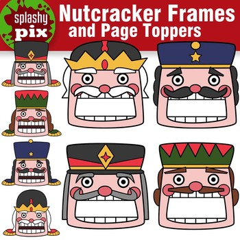 Nutcracker Frames and Page Topper Clipart