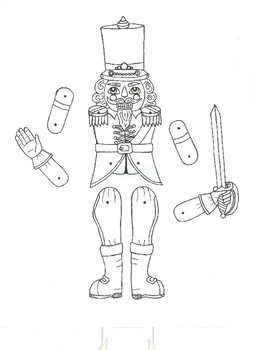 Nutcracker Jointed Paper Doll