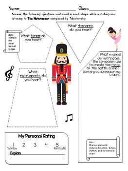 photograph relating to Nutcracker Worksheets Printable referred to as Nutcracker Tunes Worksheets Instructors Pay out Academics