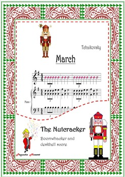 BOOMWHACKERS AND PIANO SCORE-.Nutcracker-March-Tchaikovsky-