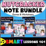 Nutcracker Music Activity BUNDLE | Games | Treble Bass Clef Note Reading Lessons