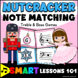 Nutcracker Activity: Treble & Bass Clef Christmas Note Reading Music Lesson