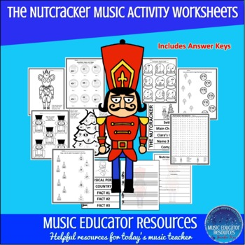 Nutcracker Music Activity Worksheets by Music Educator Resources