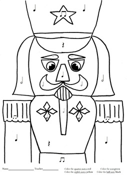 Nutcracker Music Coloring Page
