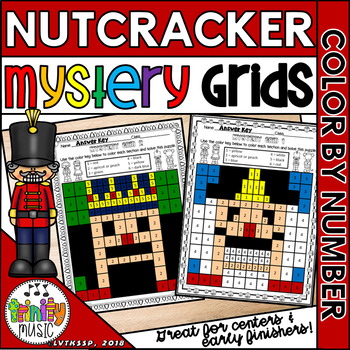 Nutcracker Mystery Grid Pictures (Color by Number)