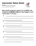 Nutcracker Notes Sheet