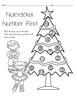 nutcracker number find mathcoloring page