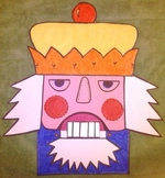 Christmas Nutcracker Paper Bag Puppet