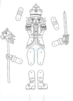 Nutcracker Prince Jointed Paper Doll