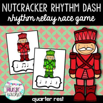 """Nutcracker Rhythm Dash """"Quarter Rest"""" Rhythm Relay Race Game"""