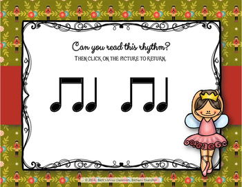Nutcracker Rhythms - Interactive Game to Practice Ta and Ti-ti (Staff)