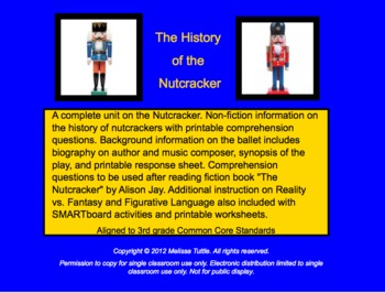 Nutcracker SMARTboard file. History of Nutcracker, Ballet, & Comprehension