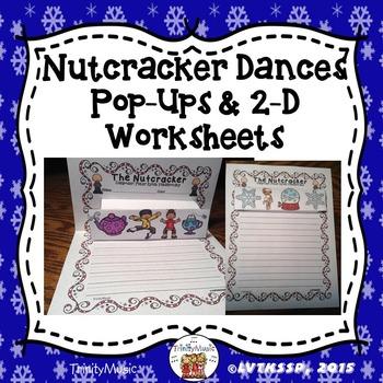 Nutcracker Song/Dance Pop-Ups 2-D Worksheets