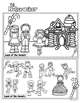 Nutcracker Story Re-Telling & Coloring Sheets