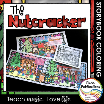 Nutcracker Story Suite - Storybook Coloring book activity