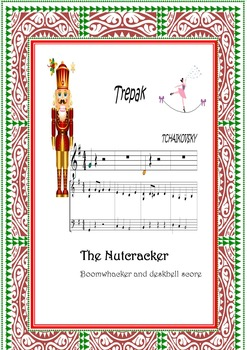 Boomwhackers  and piano score.Color codec.Nutcracker Suite-Trepak.